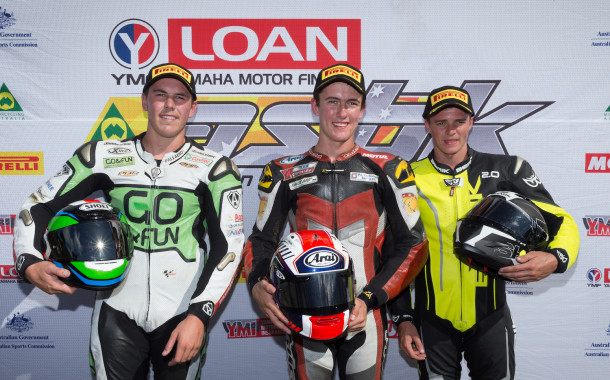 Top three talk before another Supersport fight at the ASBK