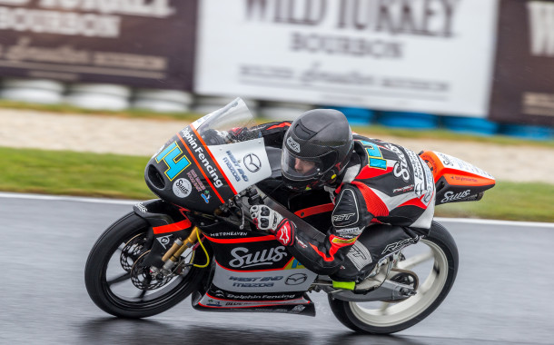 Barton improves in the rain while Jones shines in MotoGP practice